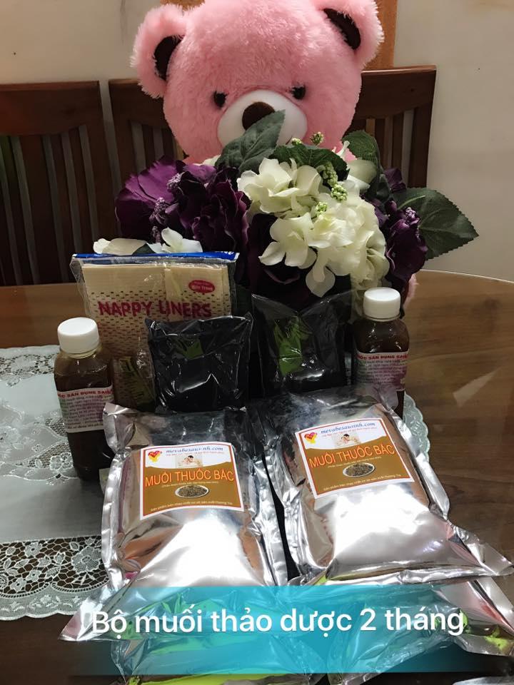 Bán muối thảo dược thuốc bắc Hương Trà săn bụng giảm eo sau sinh ở tại Quảng Ninh