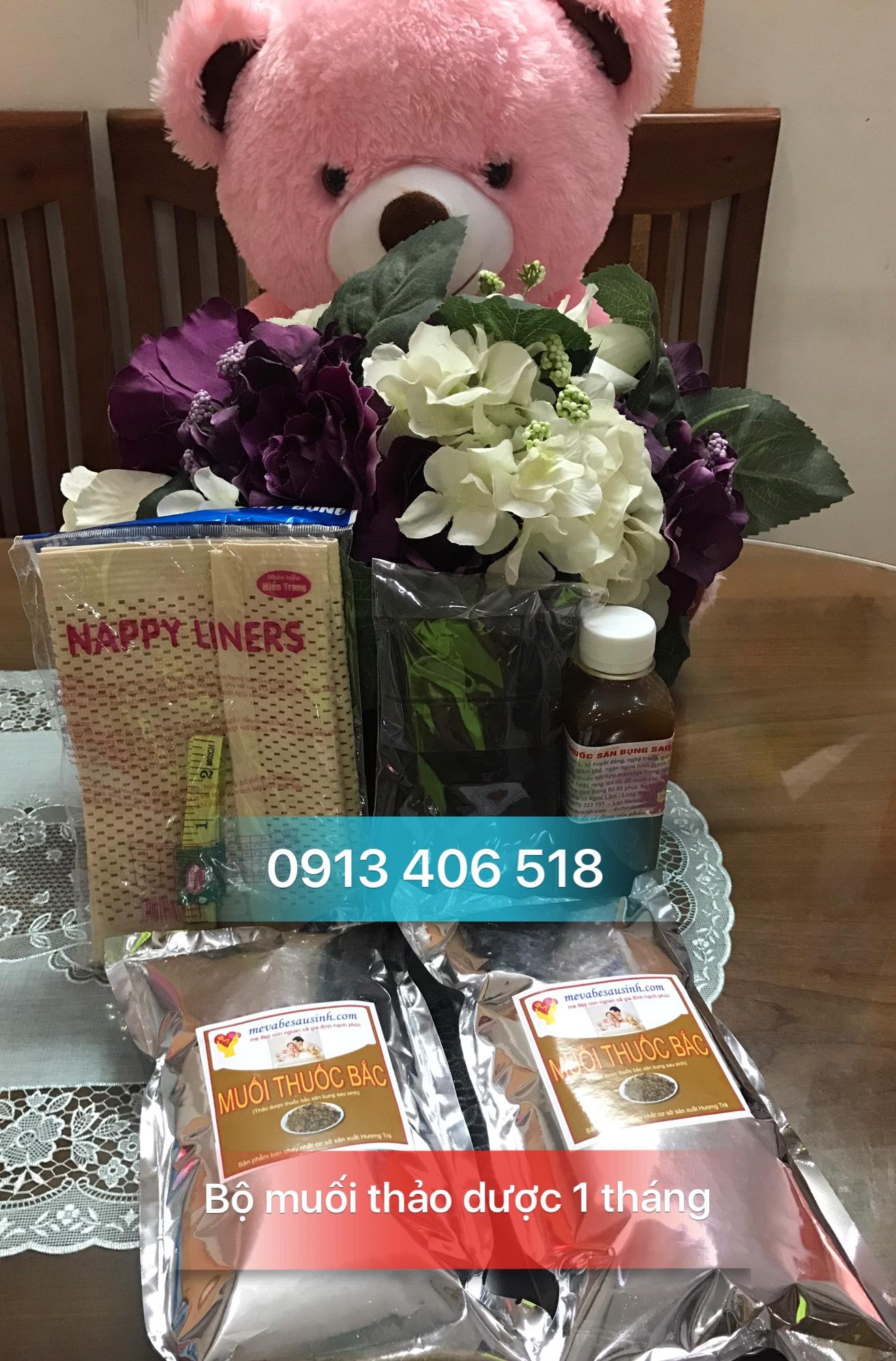 Bán muối thảo dược thuốc bắc Hương Trà săn bụng giảm eo sau sinh ở Đà Nẵng