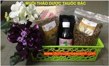 Giảm mỡ bụng sau sinh 3cm - 15cm bằng muối thảo dược Hương Trà Shop