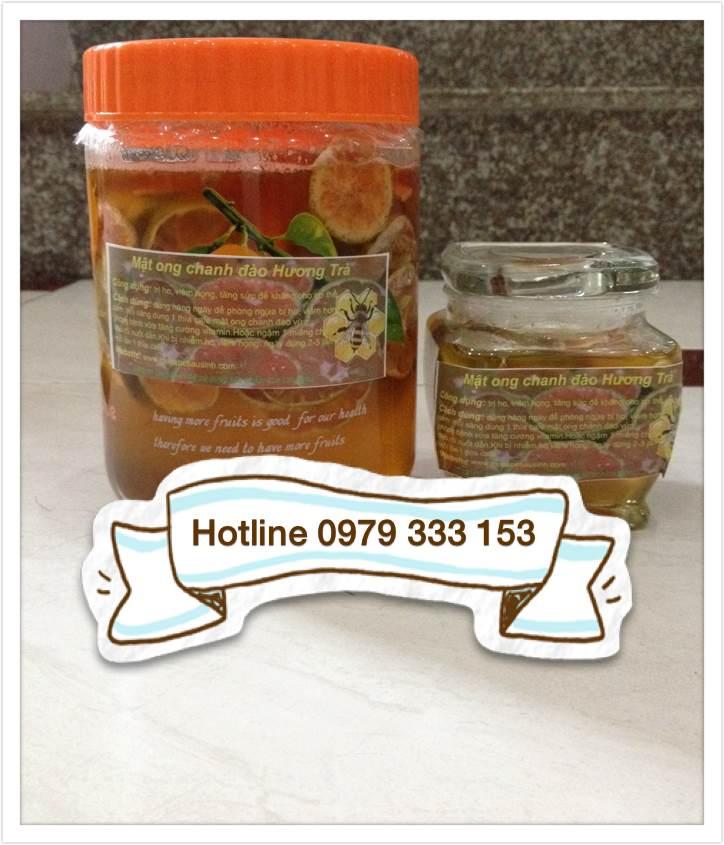 Bài thuốc đặc trị ho - Mật ong chanh đào
