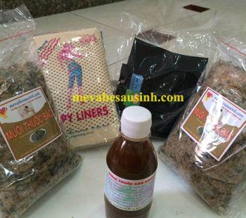 Mua muối thảo dược Hương Trà săn bụng sau sinh ở Hà Nội