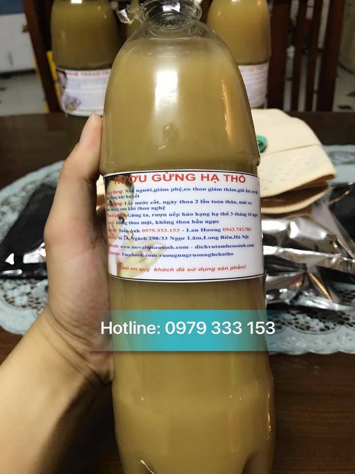 Bán rượu gừng rượu nghệ hạ thổ làm đẹp sau sinh tại Hà Nội
