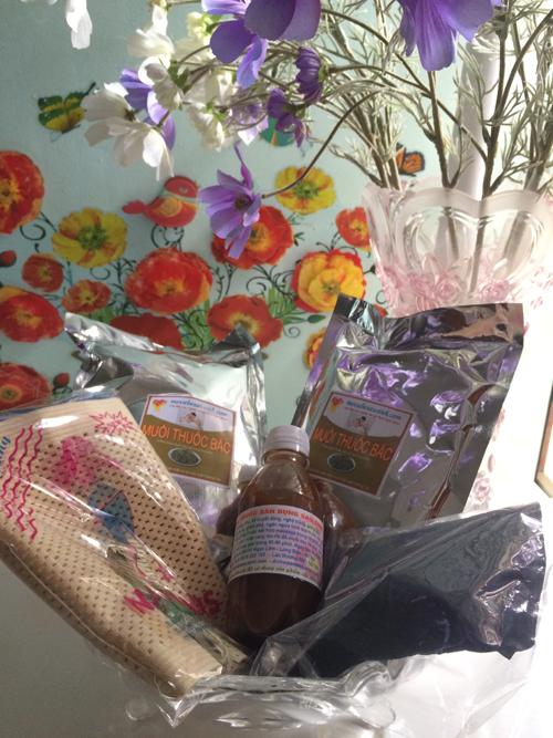 Túi muối thảo dược giảm eo sau sinh Hương Trà Shop